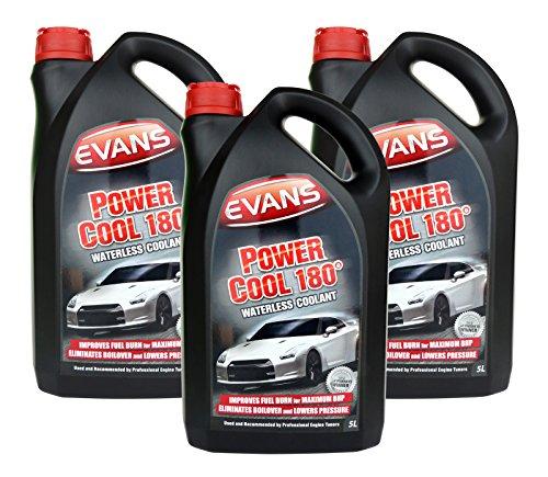 Evans Power Cool 180, liquido refrigerante senz'acqua per motore auto da corsa, 5lit