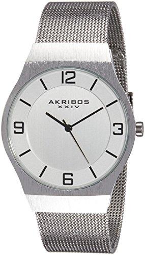 51VTkxtOGCL - AK851SS Akribos XXIV Silver Mens watch