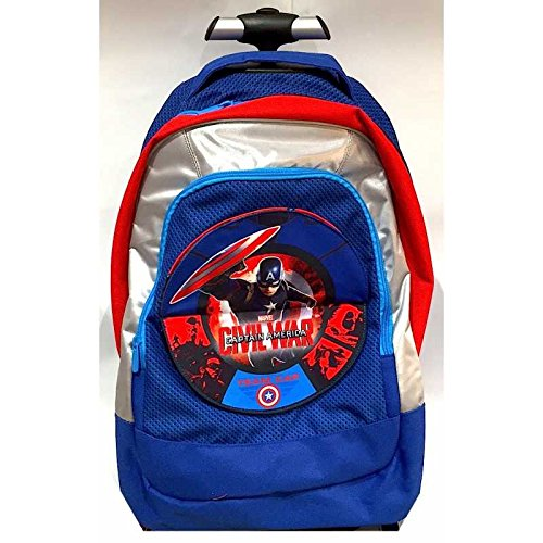 Trolley Big Zaino SEVEN - 37x48x23 cm 33lt - Captain America Civil War Cap - Cambiapattina