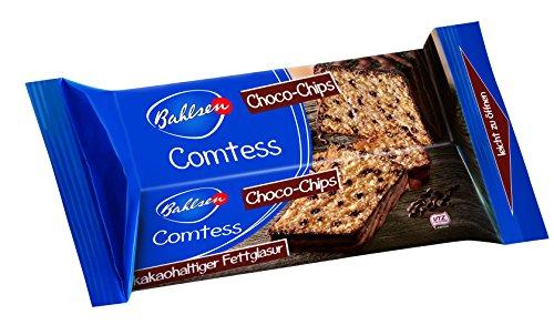Bahlsen Comtess Choco-Chips, 350 g - leckerer Rührkuchen mit Schokoladenstückchen - einzeln verpackter Stracciatellakuchen für unterwegs oder zum Kaffee - saftiger Kuchen-fast wie selbst gebacken