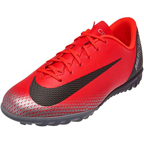 check out 4d416 91298 Nike Unisex Kids  Vaporx 12 Academy Gs Cr7 Tf Footbal Shoes, Red (Bright