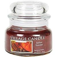 Village Candle Indischer Sommer Duftkerze, 312 g, Glas, Bräunliches Rot, 10.1 x 9.5 x 5.5 cm preisvergleich bei billige-tabletten.eu