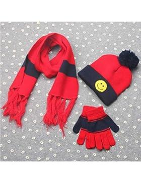 Prevently nuovo di alta qualità Bright color 3set inverno ragazzi ragazze sorriso modello collo Keep Warm sciarpe...