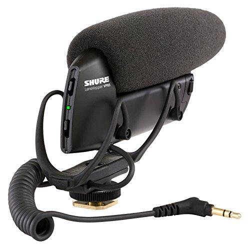 Shure VP83 Lenshopper – Robustes, extrem leichtes Kamera Mikrofon für detaillierte & hochauflösende Audioaufnahmen mit digitalen Spiegelreflexkameras – Schwarz