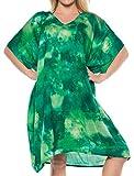 LA LEELA Empate Tinte Bikini de la Playa de Las Mujeres de algodón Cubrir Traje de baño Ocasional Estar en casa Verde_B471 ES TAMAÑO: 42 (L) - 48 (XL)