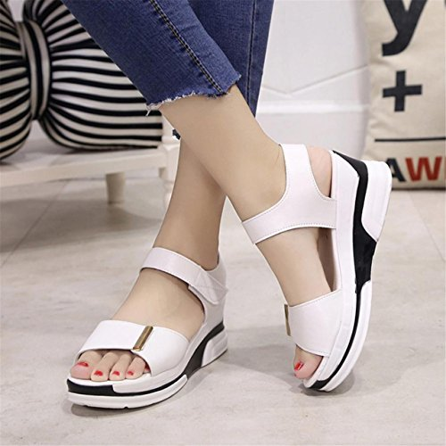LHWY Damen Sandalen Schuhe Peep-Toe Low shoes Sandalen Ladies Flip Flops White