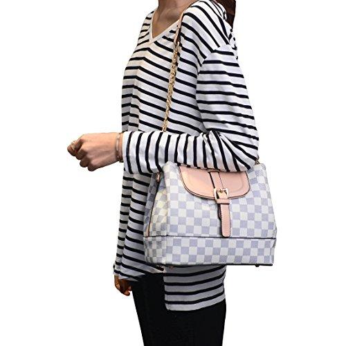 E-GIRL S875 Nouveau style PU Cuir Sacs portés épaule Sacs portés main,240×130×210(mm) Couleur-1