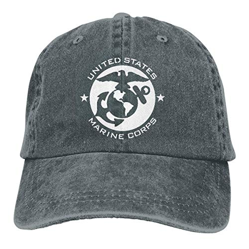Hoswee Baseballmütze Hüte Kappe US Marine Corps USMC Unisex Truck Baseball Cap Adjustable Hat Sandwich Peaked Caps Sun Hat (Us-marine-kappe)