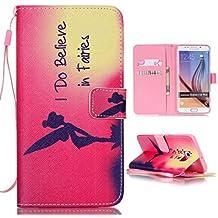 """Samsung Galaxy S6 Edge Plus Funda, Xf-fly Billetera Caso Carcasa Flip Cuero PU para Samsung Galaxy S6 Edge Plus (5.7"""") Magnético Folio Wallet Case Cover de Colorido Pattern Con ranuras para tarjetas de crédito"""