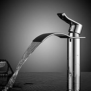 Bonade cascata alto rubinetto per lavandini bagno cromato miscelatore monoleva lavabo - Rubinetto bagno alto ...
