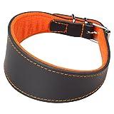 Arppe 2154014506 Halskette Galgo Leder Superfelt, Schwarz und Orange