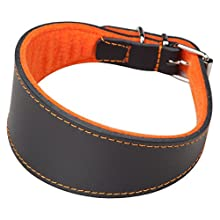 Arppe 2154014506 Superfelt, Galgo Leather Necklace, Black/Orange