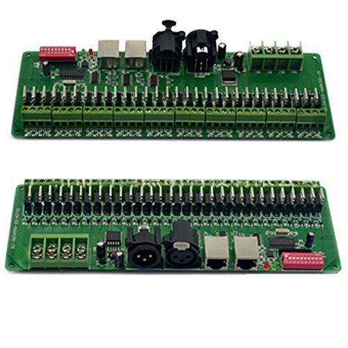 [Kostenloser Versand] 30Kanal DMX 512RGB Controller Decoder Dimmer Treiber DC9–24V für LED-Beleuchtung BML® Marke//30Del Canal controlador DMX 512RGB decodificador Dimmer controlador Para DC9–24V LED Iluminación