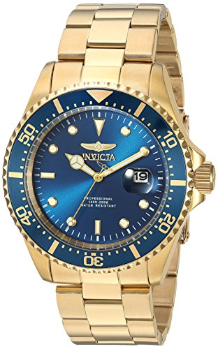Invicta 23388 Pro Diver Men's Wrist Watch Stainless Steel Quartz Blue Dial