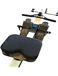 Grandnessry Rowing Machine Seat Cushion, Resistance Rowing Machine Seat Cushion Memory Foam Washable Sleeve Sports Horizontal Fixed Bicycle Memory Foam Cushion