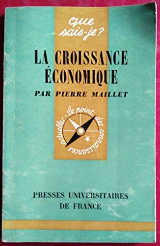 Broché - La croissance économique