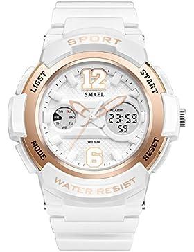 Amstt Damen Mädchen Analog Digital Armbanduhr Sportuhr Wasserdichte Militär Uhr Dual Zifferblatt Wecker Datum...