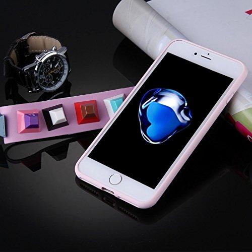 Für iPhone 7 Plus Orange quadratisch geformte Augenmuster Soft TPU Schutzhülle mit Niet Lanyard DEXING ( SKU : Ip7p1675b ) Ip7p1675e