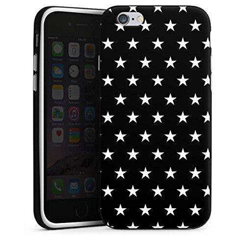 Apple iPhone 5s Housse Étui Protection Coque Petite étoile Noir et blanc Motif Housse en silicone noir / blanc