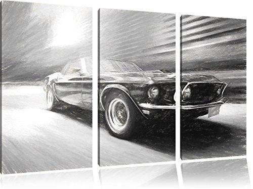 ford-mustang-effetto-carbone-3-pezzi-picture-tela-120x80-immagine-sulla-tela-xxl-enormi-immagini-com