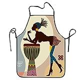 African american Art mujer africana pintura casa cocina Delantal barbacoa cocina cocina babero Delantal para las mujeres hombres