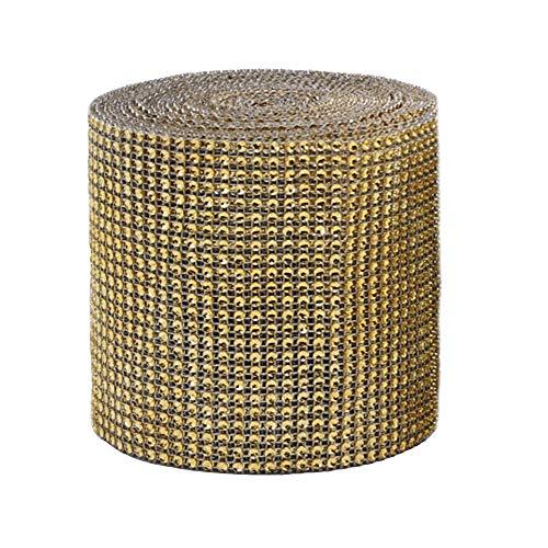 M/Rolle Strassband Acrylic Rhinestone Diamant Band Dekoband Für Hochzeit Geburtstag Torte Gastgeschenkbox Verzierung Handwerk (Gold) ()