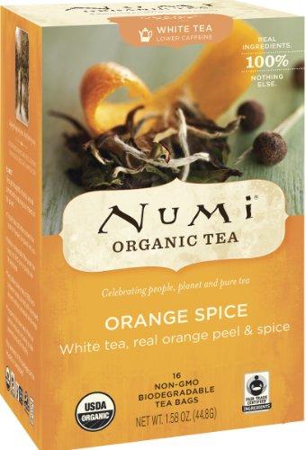 Numi Tea White Tea Orange Spice, Orange Spice 16 bags