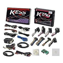 Lynn025Keats V5.017 OBD2 + KTAG V7.020 Meister Red PCB Kein Token Begrenzte ECU Chip Tuning-Programmierungs-Werkzeug Euro Online Version v2 KESS