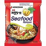 Carton 20 Soupes Nouilles Nong Shim Fruits de Mer Ramyun 125g