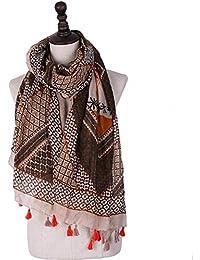 MXNET Pañuelo musulmán grande en forma de diamante bufanda geométrica gasa mujeres regalo maravilloso primavera verano