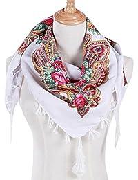 48a44d6933d0 hunpta Mode Femme carré Tête Écharpe Wraps écharpes pour Femmes Imprimé  Foulards de Cou