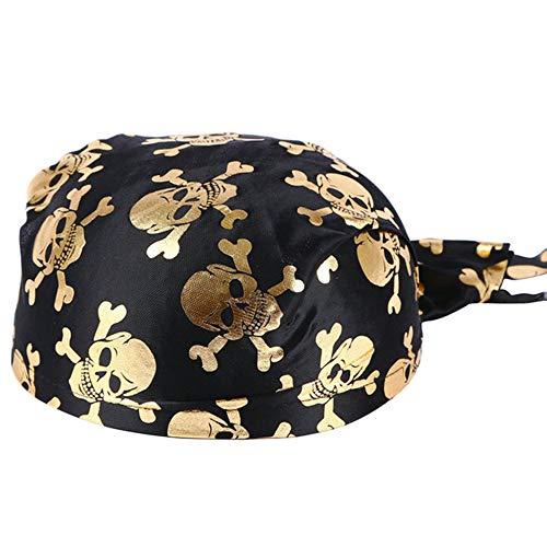 oloniale Hüte Skelett Muster Piraten-Accessoires Halloween Alle Partys,Gold ()