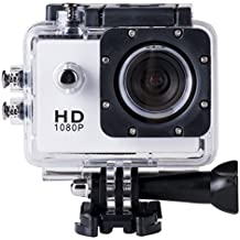 BriskyM SJ4000 Cámara Full HD 1080P 12MP 30M Impermeable Deportes Cámara de Acción DVCARDVR Soporte SD a 32GB, color blanco