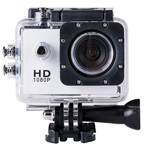 Sj4000 Wasserdicht Auto-kamera (briskym SJ4000Full HD 1080p Kamera 12MP 30m Wasserdicht Action Sport-Kamera DV Auto DVR unterstützt SD bis 32GB, weiß)