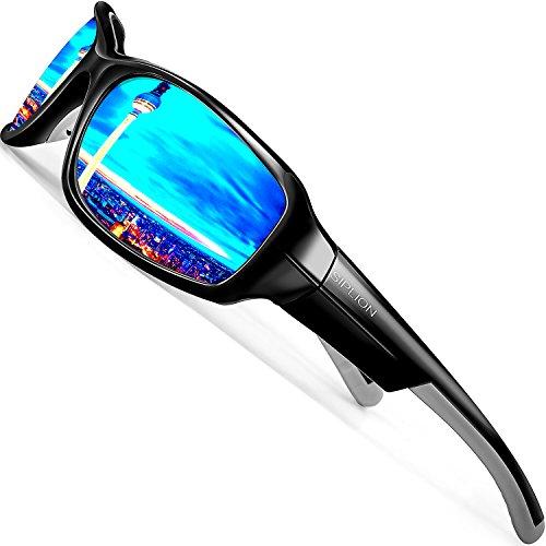 SIPLION Hombre Gafas De Sol UV400 Polarizado Lente TR90 Superlight ...