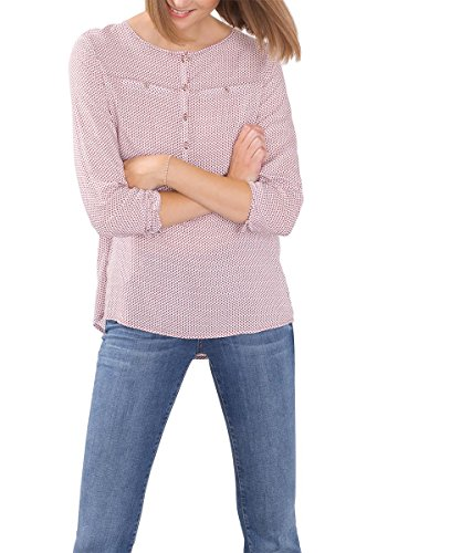 ESPRIT 086EE1F011, Camicia Donna, Multicolore (BORDEAUX RED), 38
