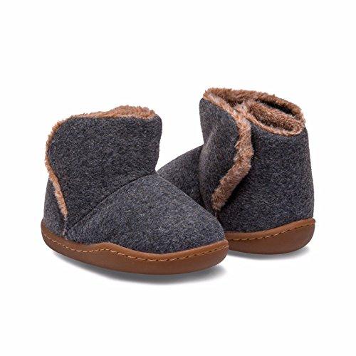 Little Blue Lamb , {Chaussures premiers pas pour bébé (garçon) gris gris 12-18 mois gris