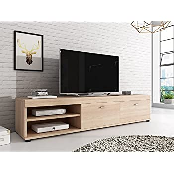 "1home TV Stand Cabinet Gloss Shelf Glass upto 60"" Flat Amazon"