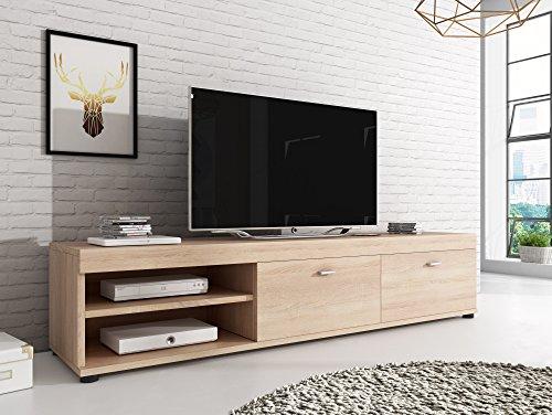 Tv mobile tv porta mobili supporto tv armadietto, elsa rovere chiaro (sonoma), 140 cm