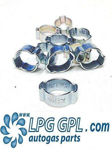 Preisvergleich Produktbild LPG/GPL autogas, SCHLAUCH ROHR O clips, 12 x 10 mm für Einspritzdüse Schlauch.