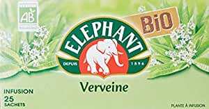 Elephant Infusion Verveine Bio 25 Sachets 33g - Lot de 3