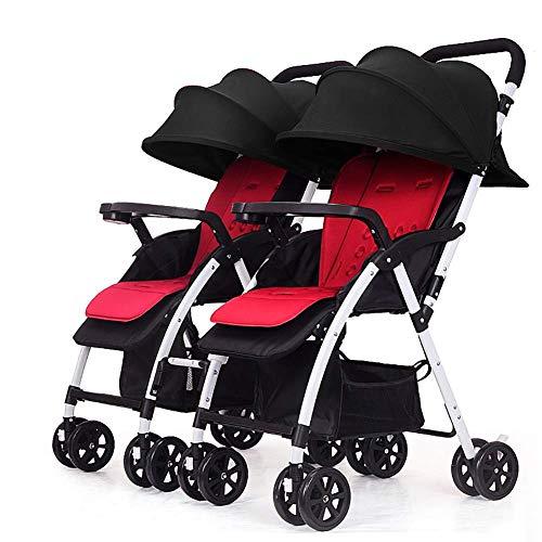 DQZLFYH Zwillingskinderwagen können aufgeteilt und gefaltet Werden, gefaltet, leicht, zweites Kind, Babyauto, doppelter Kinderwagen,D