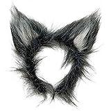 Wolfsohren Wolf Plüschohren Wolf Ohren Tierohren Bestie Werwolf Kopfbügel Tierkostüm Zubehör Kostüm Accessoire -