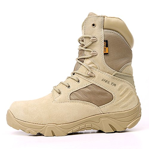 Macho Desierto Outdoor High Top táctica de Guerra terrestre Viajes Antideslizante Botas de Escalada(US7-UK6-EU40)