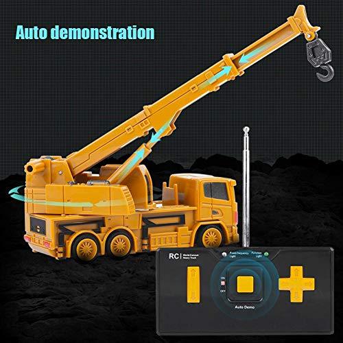 RC Auto kaufen Baufahrzeug Bild 6: Alomejor RC Bauwagen, Mini DIY Baufahrzeug RC Bagger Truck Bagger Kits Baustein Spielzeug(Kran)*