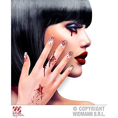 ge Kunstnägel Selbstklebend / weiße Fingernägel mit Blutspritzern / Nagel Tips für Halloween ()