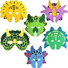 Pack of 6 Dinosaur Foam Face Masks (máscara/ careta)