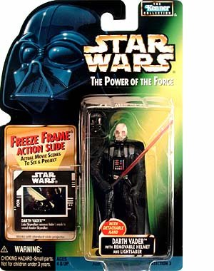 Figura Star Wars Power of The Force Darth Vader with Removable Helmet and Lightsaber