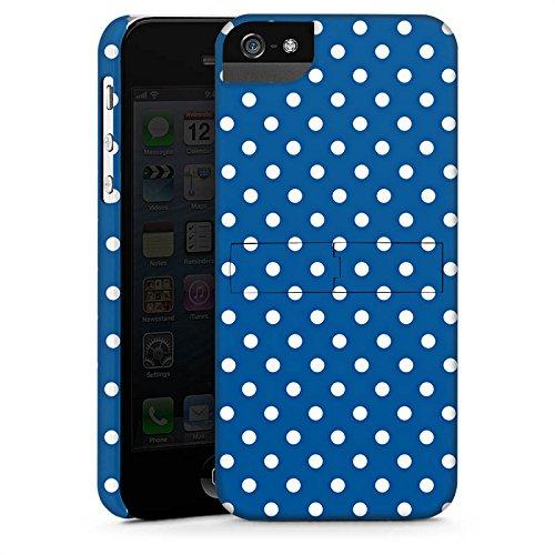 Apple iPhone 5s Housse Étui Protection Coque Petits points Motif Motif CasStandup blanc