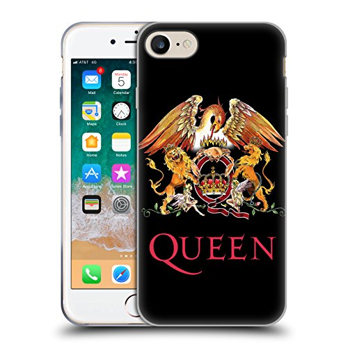 Head Case Designs Ufficiale Queen Stemma Arte Chiave Cover Morbida in Gel per iPhone 7 / iPhone 8